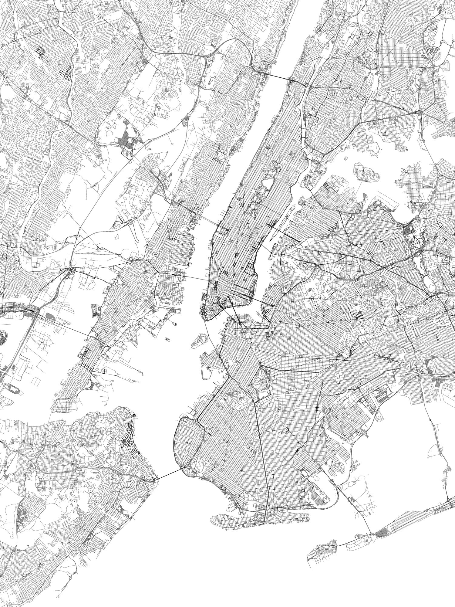 New York. Bathymetry
